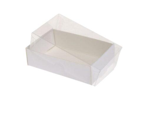 Kartonbund til visitkortæske (plastlåg bestilles separat): Indvendige mål 90x56x25 mm. Sælges i bundt/kolli á 50 stk. Minimum 100 stk.