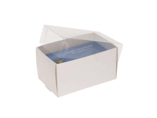 Varenr. 3015 - Kartonbund til visitkortæske (plastlåg bestilles separat): 90x56x50