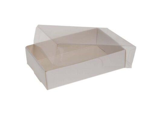 Varenr. 3020 - Kartonbund til visitkortæske (plastlåg bestilles separat): 103x66x25 mm. Sælges i bundt/kolli á 50 stk.