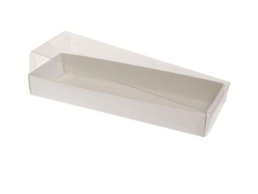 Varenr. 3030 - Kartonbund til visitkortæske (plastlåg bestilles separat): 190x60x25 mm. Sælges i bundt/kolli á 50 stk.
