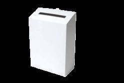 Postkasse (hvid/hvid bølgepap): 220x100x280