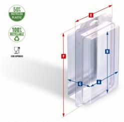 BLIBOX - Plastik æske : blister æske - Stor