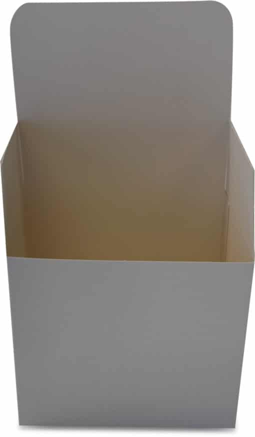 Hvid gaveæske - mål: 144x108x127